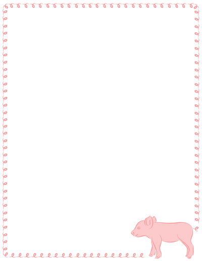 Ten new borders have been added including borders featuring pigs ...